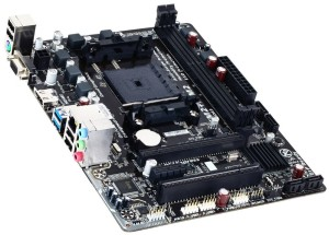 It's may be cheap but this Gigabyte FM2+ Motherboard has enough features for what we're trying to do.