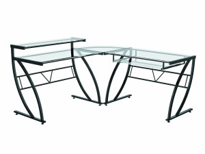 Z-Line Belaire Glass Desk